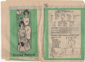 "1960's Mail Order One Piece Fit and Flare or Wiggle Dress with Bateau Neckline - Bust 36"" - No. 9462"
