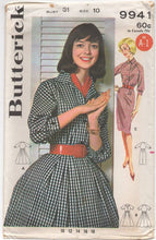 "1960's One Piece Raglan Sleeve Dress with Full or Slim Skirt - Bust 31"" - UC/FF - No. 9941"
