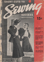 1940's Shortcuts to Sewing Book by DuBarry - Paper copy