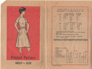 "1970's Marian Martin One Piece Dress with large pockets - Bust 38"" - No. 9027"