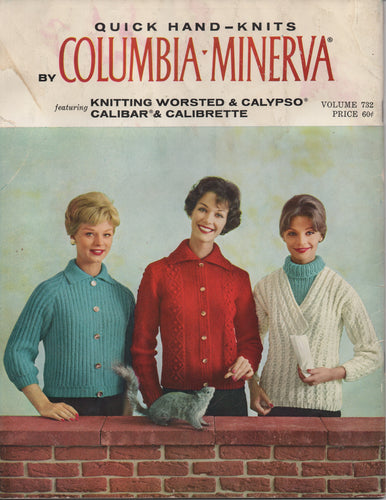 1950's Quick Hand Knits by Columbia-Minerva - No. 732