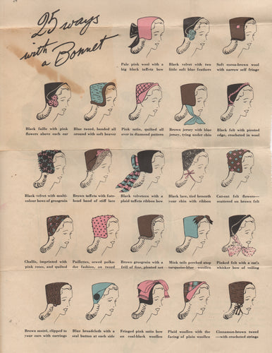 1943 Dutch Bonnet by Vogue - OOP - PDF Download