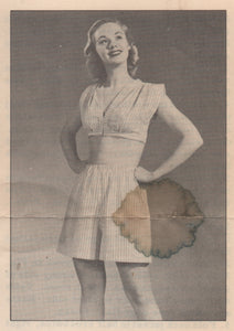 "1940's Two Piece Pajama Pattern - Bust 30-32"" - From National Needlecraft Bureau - No. 2335 - PDF pattern"