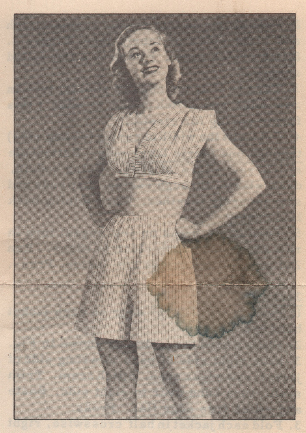 1940's Two Piece Pajama Pattern - Bust 30-32
