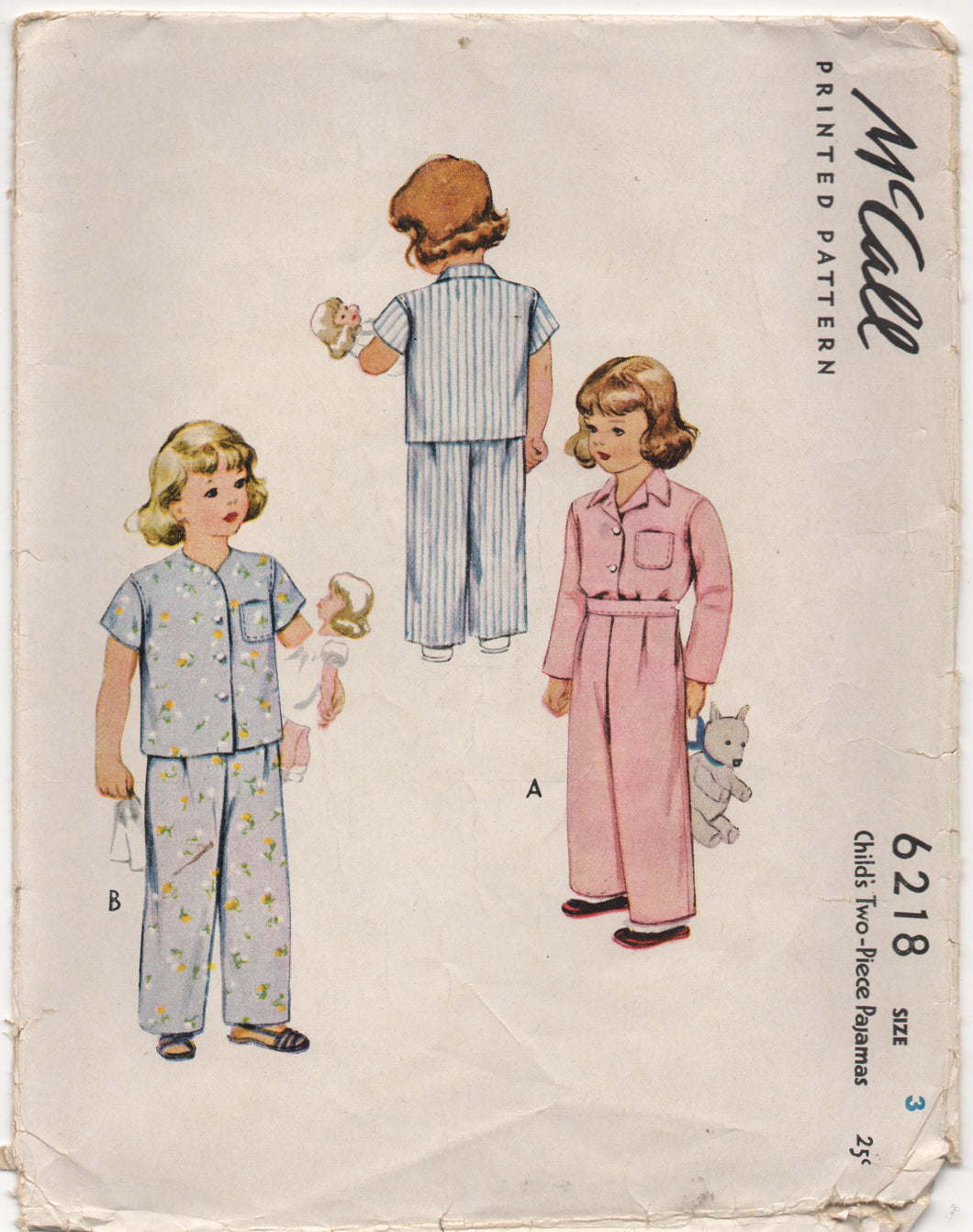 1940's McCall Child's Two Piece Pajamas - Chest 22