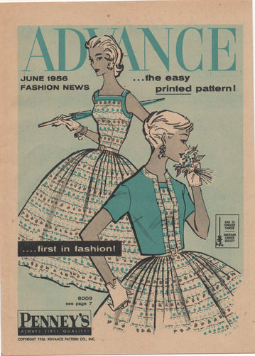 E-Book 1956 Advance Patterns June Preview Catalog - Digital Download