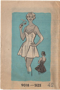 "1950's Mail Order One Piece Swimsuit pattern - Bust 42"" - UC/FF - No. 9018"