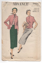 "1950's Advance Jacket with Nipped Waist and Straight Skirt - Bust 38"" - UC/FF - No. 5405"