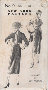 "1950's New York by Jean Modiste Blouse with Back Buttons, Slim Skirt with side detail and Bolero - Bust 30"" - UC/FF - No. 9"