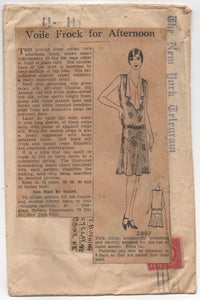 "1920's Mail Order Drop Waist Dress with bib front - Bust 40"" - No. 2907"