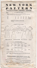 "1950's New York One Piece Dress Pattern with Cross-over front flap - Bust 32"" - UC/FF - No. 1459"