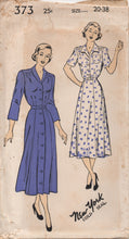 "1940's New York One Piece Dress with Two Collar Styles - Bust 38"" - UC/FF - No. 373"