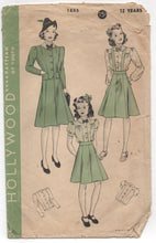 "1940's Hollywood Blouse, Skirt with or without suspenders, Jacket - Bust 30"" - No. 1855"
