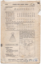 "1950's Advance American Designer Evening Dress Pattern with full skirt - Bust 34"" - No. 7914"