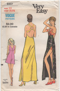 "1970's Vogue Micro-Mini or Maxi Dress with High Waisted Shorts - Bust 32.5"" - UC/FF - No. 8337"