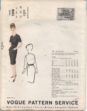 "1960's Vogue Couturier Design One Piece Double Breasted Dress - Bust 36"" - No. 1308"