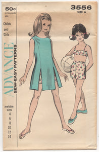 "1960's Advance Bra Top, Shorts, and One Piece Dress - Breast 24"" - UC/FF - No. 3556"