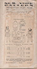 "1950's New York Girl's Skirt with Detailed Suspenders and Blouse in Two styles - Breast 24"" - No. 1899"