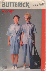 "1988 Butterick ESPIRIT Oversize Shirt, Skirt and Pants - Bust 30.5-31.5-32.5"" - UC/FF - No. 6120"