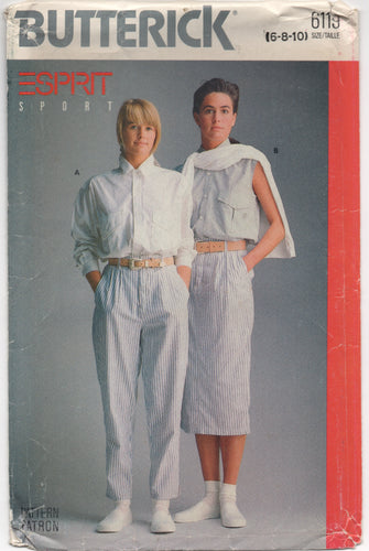 1988 Butterick ESPIRIT Oversize Shirt, Skirt and Pants - Bust 30.5-31.5-32.5
