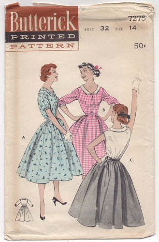 1950's Butterick Shirtwaist Dress with