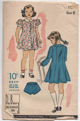 1940's DuBarry Girl's Princess Dress and Bloomers - Breast 21