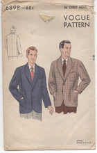 "1950's Vogue Men's Jacket - Chest 36"" - No. 6898"