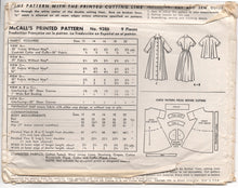 "1950's McCall's One Piece Full Belted Dress, Negligee or Jacket - Bust 32"" - No. 9386"