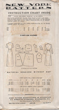 "1940's New York Long Housecoat with Button Front and Two Sleeve lengths - Bust 34"" - UC/FF - No. 579"