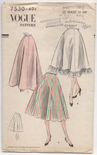 "1950's Vogue Petticoat in Two lengths or scallops - Waist 22"" - No. 7530"