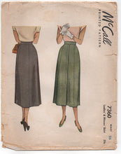 "1940's McCall Panel Skirt with Overlap detail - Waist 26"" - No. 7360"