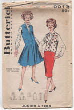 "1950's Butterick Jacket, Full Skirt and Slim Skirt Pattern - Bust 32"" - UC/FF - No. 9013"