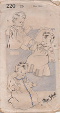 1940's New York Infant's Layette (Kimono and Dress) - UC/FF - No. 220