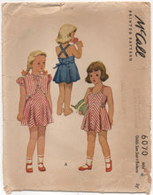 "1940's McCall Girl's Sun Dress with Strappy Back and Bolero - Chest 24"" - No. 6070"