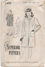 "1940's Superior Girl's Coat and Beret Pattern - Bust 30"" - No. 6256"