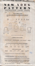 "1950's New York Western Style Yoke Blouse with or without sleeves Pattern - Bust 32"" - No.956"