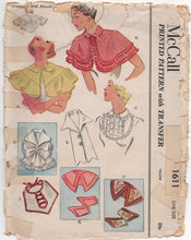 1950's McCall Set of Capes and Cuffs - One Size - No. 1611