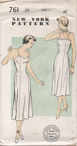 1950's New York Slip with Straight or Sweetheart Neckline - Bust 40