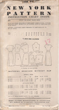 "1950's New York One Piece Dress with V neck or High neck and Bow and Bolero - Bust 36"" - UC/FF - No. 811"