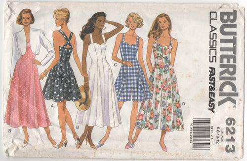 1990's Butterick Sweetheart Neckline Dress and Culotte Romper and Bolero Pattern - Bust 30.5-31.5-32.5-34