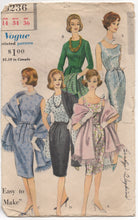 "1960's Vogue One Piece Fitted Dress and Stole Pattern - Bust 34"" - No. 5236"