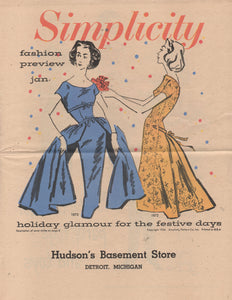 E-Book 1956 Simplicity Patterns January Preview Catalog - Digital Download