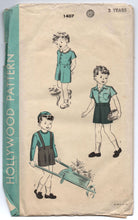 1940's Hollywood Boy's Two Piece Suit Pattern - Size 2 - No. 1407