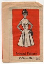 "1960's Mail Order One-Piece Fit and Flare Dress - Bust 34"" - UC/FF - No. 4506"