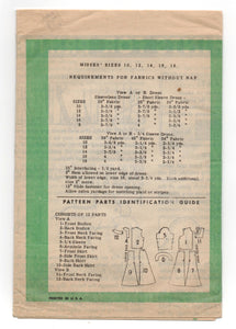"1960's Mail Order Sweetheart or High Neckline Dress Pattern - Bust 32"" - UC/FF - No. 4599"