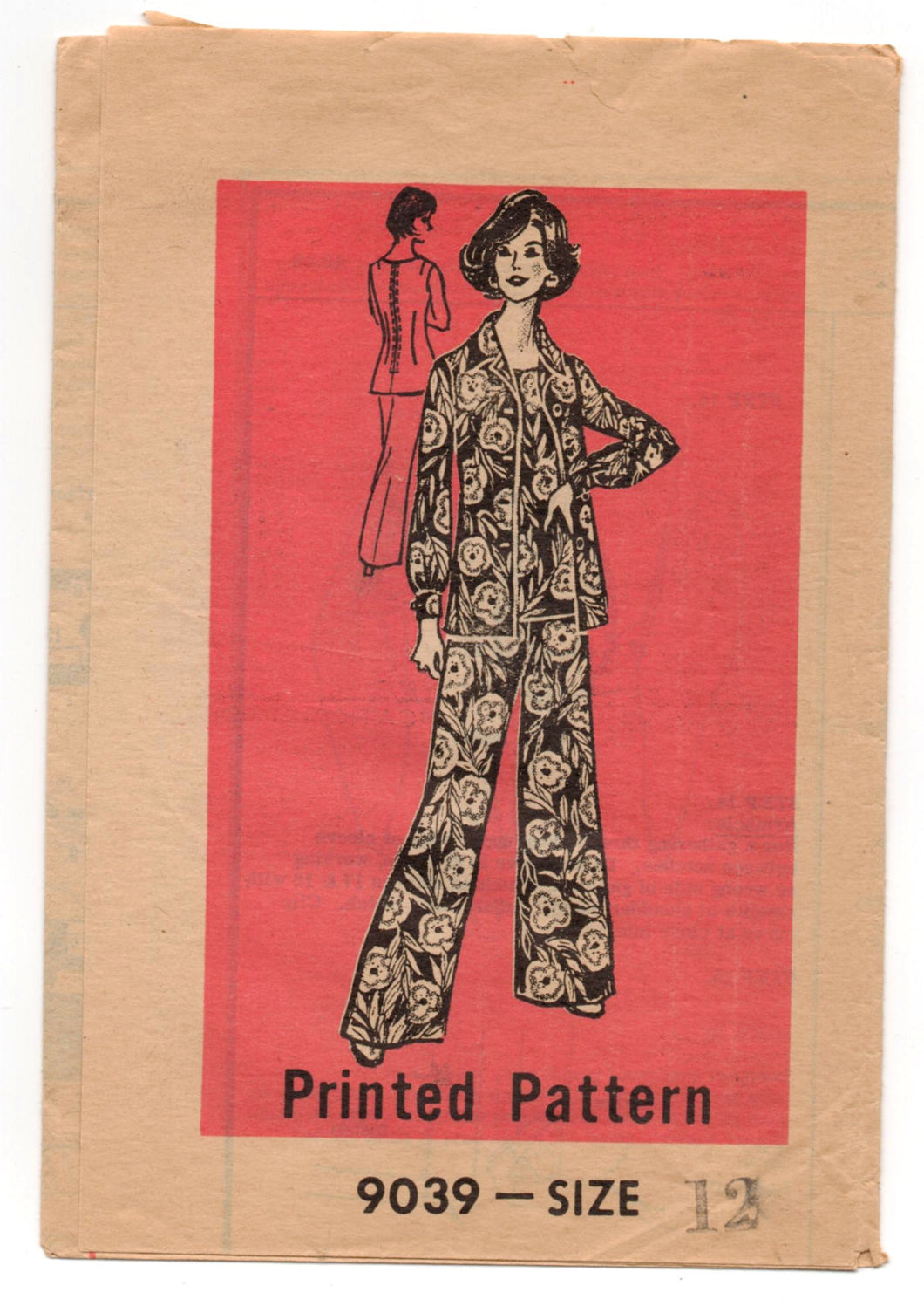 1970's Mail Order Jacket, Tunic, and Pants Pattern - Bust 34