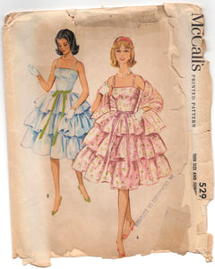 "1950's McCall's Homecoming or Prom Dress Pattern - Bust 32"" - No. 5293"