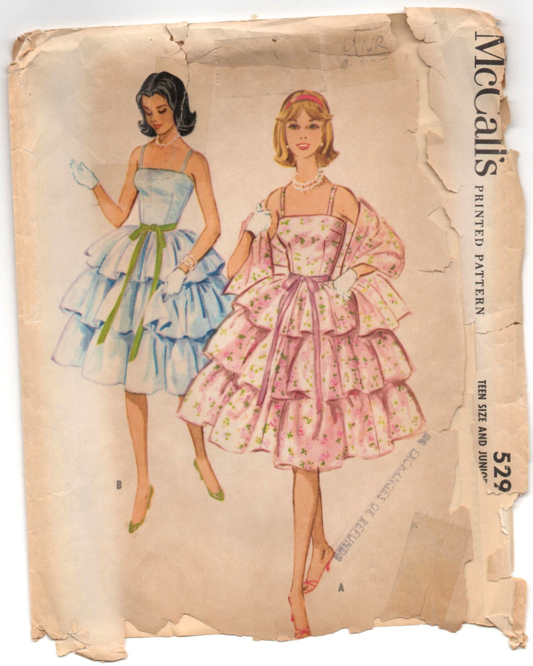 1950's McCall's Homecoming or Prom Dress Pattern - Bust 32