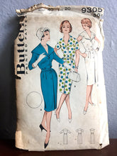 "1960's Butterick One-Piece Dress with Oversize Collar and Button Up Front Pattern - Bust 40"" - No. 9305"