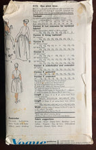"1950's Vogue Special Design Evening Dress or Cocktail Dress with Bell Skirt Pattern - Bust 32"" - UC/FF - No. 4175"